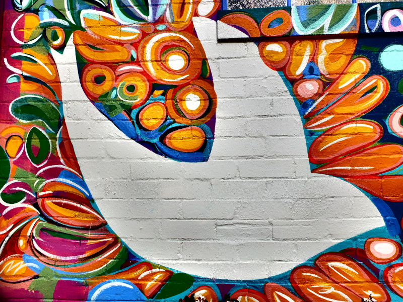 Dove mural at Northern Beaches Uniting Church