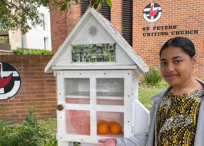 Street library at Freshwater Uniting church